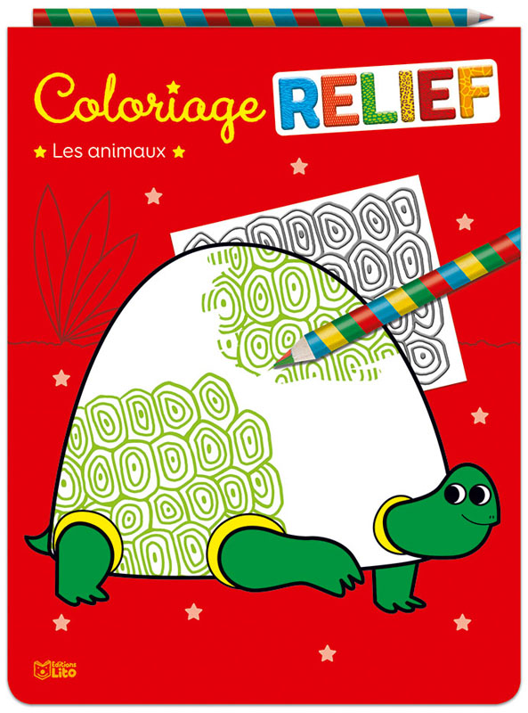 Coloriages en relief les animaux editions lito - Coloriage relief ...